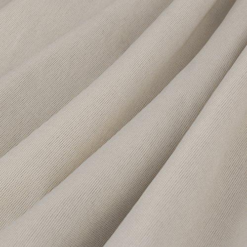 HOMEYEE Frauen elegante Spitze-Hülsen-V-Ansatz Ineinander greifen-dünnes Bodycon Tassel formales Weinlese-Kleid B337 Schwarz