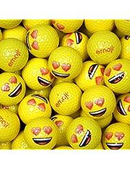 Emoji EMGBB002 Lot de 24 Balles de Golf Mixte Adulte, Blanc, N/A