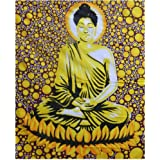 Bedspread Lotus Buddha 230x205cm Coverlet Oriental India Decor Cotton Wall Art Bed Couch Sofa Cover