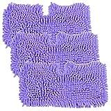 YTT 3Pack Purple per lo squalo S2901 S3455 S3501 S3502 S3601 S3701 S3901 Tappetini per tasche della copertura corallina del pulitore del vapore