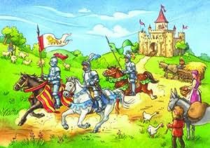 Ravensburger 09018 - Bei den Rittern - 2x 20 Teile Puzzle