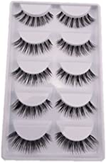 5 Pairs Natural Look Fake Eye Lash False Eyelashes Extension Makeup
