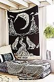 Weinen Wolf Of The Moon Tapisserie Wandbehang Bohemian Bed Sheet Ethnic Art ...