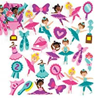 Baker Ross Ballerina Foam Stickers(Pack Of 120) For Kids To Decorate Arts, Crafts, Cards & Scrapbooking