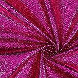 Fabulous Fabrics Karnevalsstoff Foliendruck in Schlangenoptik – pink — Meterware ab 0,5m — zum Nähen von Karnevalsartikeln und Abend- und Partymode