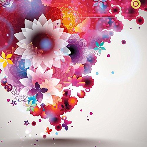Apple iPhone 4 Housse Étui Silicone Coque Protection couleurs Fleurs Fleurs Étui en cuir marron
