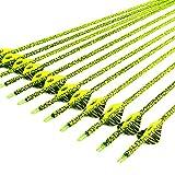 VERY100 Pfeile für Bogenschießen mit köcher 31 Zoll Bogenpfeile Carbon Jagdpfeile Super für CompoundBogen und Recurvebogen und Langbogen