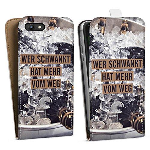 Apple iPhone X Silikon Hülle Case Schutzhülle Party Feiern Sprüche Downflip Tasche weiß