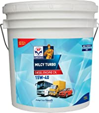 HP Lubricants Milcy Turbo 15W-40 API CF4 Engine Oil for Cars (7.5 L)