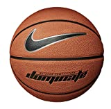 Nike Dominate 8P Basketball, Amber/Black/Mtlc Platinum/Black, 7
