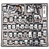 NouveLife Lot de 42 Pieds de Biche Machine à Coudre Pieds-de-Biche Pieds Presseurs Set pour Brother Singer Janome avec Boîte de Rangement Plastique