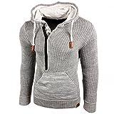 Rusty Neal Top Herren Winter Kapuzenpullover Pulli Sweatshirt Jacke RN-13277, Größe:4XL, Farbe:Grau