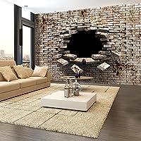 murando - Fototapete Abstrakt 150x105 cm - Vlies Tapete - Moderne Wanddeko - Design Tapete - Wandtapete - Wand Dekoration - Mauer Ziegel a-A-0098-a-b