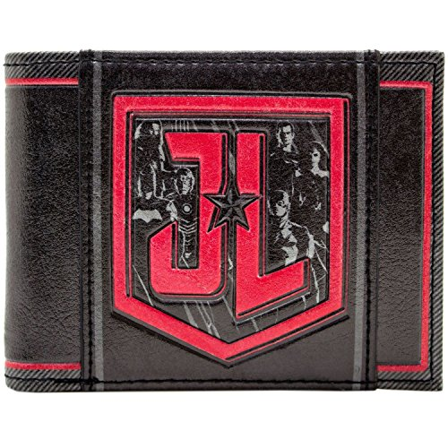 Justice League JL Rot Symbol Schwarz Portemonnaie Geldbörse