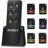 Buscador de Llaves Wireless Key Finder, 6 Unids Key Tracker con Base, Admite Localizador Remoto de Llaves, Buscador de Mascot