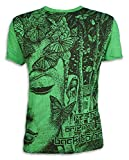 SURE Vintage Herren T-Shirt Buddhsimus Buddha Psy Goa Nepal Tibet Psychedelic L