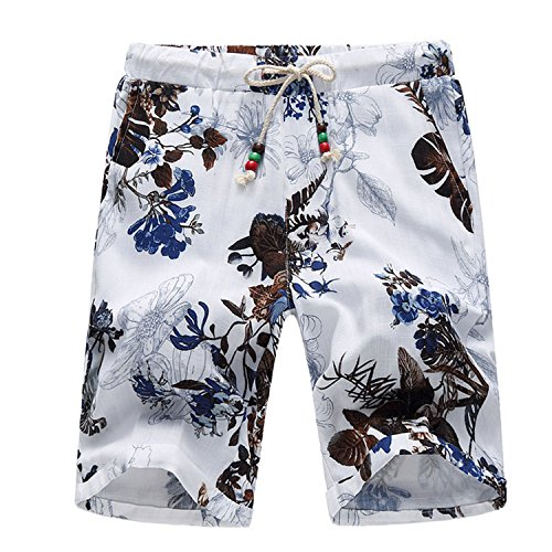 HCIUUI Plus 6XL Shorts Men 2018 New Fashion Men Shorts Chinese Style Elastic Waist Floral Board Shorts Men High Quality Short Homme