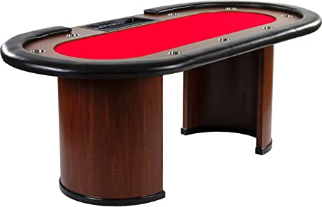 Royal Flush Poker Table 213 x 106 x 75 cm in a Choice of Colours - Weight 58 kg with 9x Drink Holders and Padded Armrest