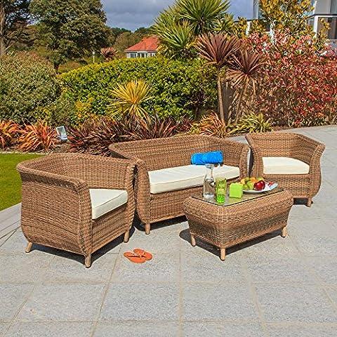 Oseasons® 4posti in rattan mobili da giardino Set di Seduta