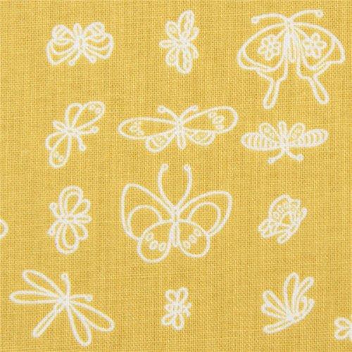 Michael Miller Designergewebe mit Insekten, aus den USA, Kollektion: Enjoy The Little Things, Daisy Paisley -