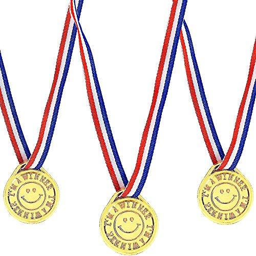 Kostüm Gold Medaille - German Trendseller® - 8 x Gold Medaillen Smiley┃ Sieger Medallien ┃ Smiley´s ┃ Super Medallien ┃ Auszeichnung ┃ Podium ┃ Marathon ┃ Wetbewerb ┃ Turnier