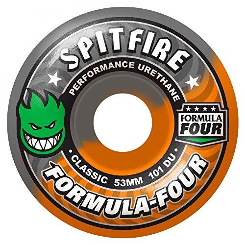 spitfire-formula-four-classics-hazard-swirl-ruote-da-skateboard-101du-grigio-arancione-52-mm