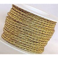 15 m x 4 mm Cordón oro insertos cordón banda SCHLEIFENBAND cuerda