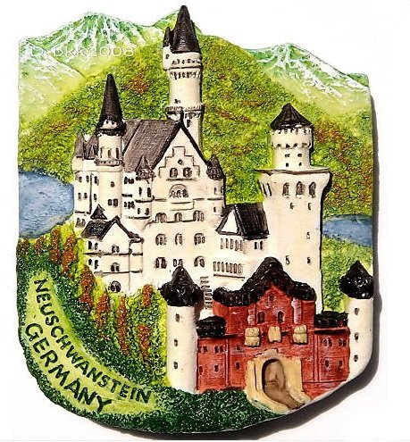 Castello di Neuschwanstein Germania Europemagnet souvenir Thailandia Handmade design