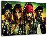 pirates of the caribbean Format 120x80 cm Bild auf Leinwand, XXL riesige Bilder fertig gerahmt mit Keilrahmen, Kunstdruck auf Wandbild mit Rahmen