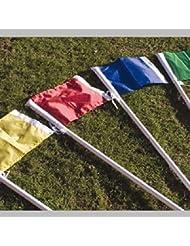 Fútbol deportes al aire libre formación motivos marcador único color esquina nailon banderas, amarillo