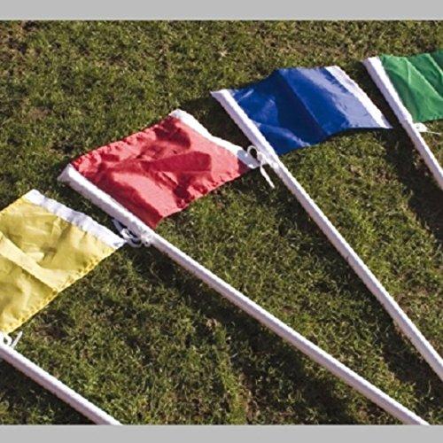 Fußball-Eckfahne aus Nylon, Einfarbig, grün