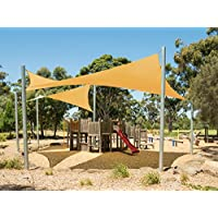Cool Area Toldo vela tri¨¢ngulo 4x4x4 metros protecci¨®n UV Resistente, color arena