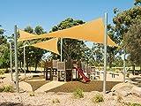 Cool Area Toldo vela de sombra triangular 5 x 5 x 5 metros protección rayos UV, resistente y transpirable (varios colores y medidas), Color arena