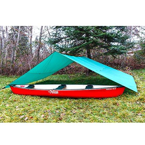 61ErqRdYtFL. SS500  - Aqua Quest Guide Tarp - 100% Waterproof Ultralight RipStop SilNylon Backpacking Rain Fly - 3x2, 3x3, 4x3, 6x4 Green or…