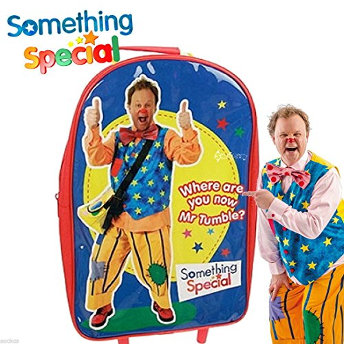 Image of Something Special® Mr Tumble Kids Children Luggage Set Backpack Draw String Bag and Wallet - BBC CBeebies TV Show Official Merchandise