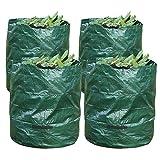 Yahee 4 Stück Gartensack Abfallsack Laubsack aus PP mit Griffe, robust faltbar