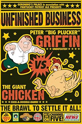 peter-griffin-vs-the-giant-chicken-artistica-di-stampa-6096-x-9144-cm