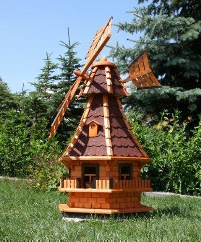 Große Windmühle mit Solar, rot Typ 6.1
