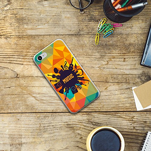 WoowCase Hülle Case für [ iPhone 7 ] Handy Cover Schutzhülle Herzen Housse Gel iPhone 7 Transparent D0128