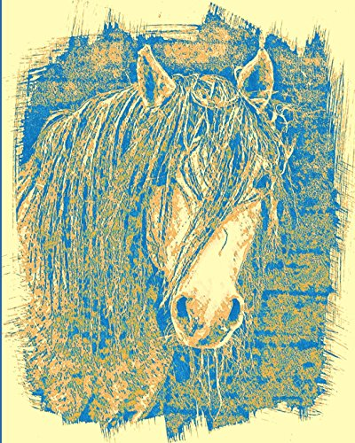 Horse Notebook: College Ruled - Lined Journal - Composition Notebook - Soft Cover Writer's Notebook or Journal for School  - College or Work - Sepia Mustang Horse Crazy Horse Rodeo