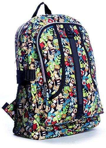 Big Handbag Shop , Sac mixte adulte Backpack 8130 - Green Scene