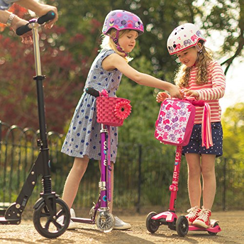 Micro Pink Basket Accessory Scooter Bike Bicycle Girl Boy Children Kids
