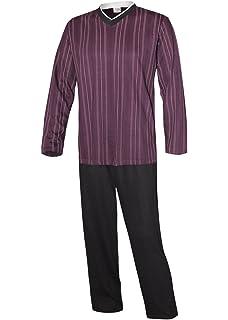 aa3e71b5c3a202 Herren Schlafanzug lang in verschiedenen Ausführungen Herren Pyjama  Hausanzug aus 100% Baumwolle Model Vintage