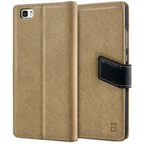 lowest price d45a6 99a5a BEZ® Huawei P8 Lite Premium Wallet Case Cover (PU3-TBHP8L)