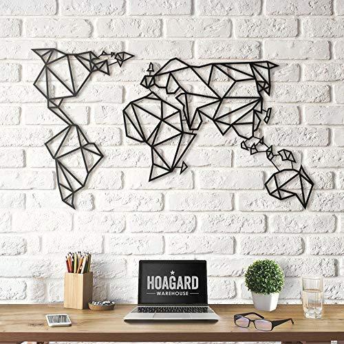 Hoagard Metal World Map Black - Mapamundi - Mapa mundo