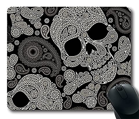 Is Skull Gaming Mouse Pad - Durable Personalized Oblong Shaped Mouse Pad Mouse Mat Design Natural Eco Rubber Computer Desk Stationery Accessories Gifts For Mouse Pads - Support Wired Wireless or Bluetooth Mouse
