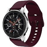 Syxinn Compatibile con 22mm Cinturino Galaxy Watch 46mm/Gear S3 Frontier/Classic Braccialetto Silicone Cinturini Fascia da Po