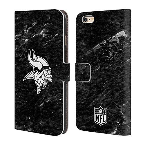 Ufficiale NFL Righe 2017/18 Minnesota Vikings Cover a portafoglio in pelle per Apple iPhone 6 / 6s Marmo