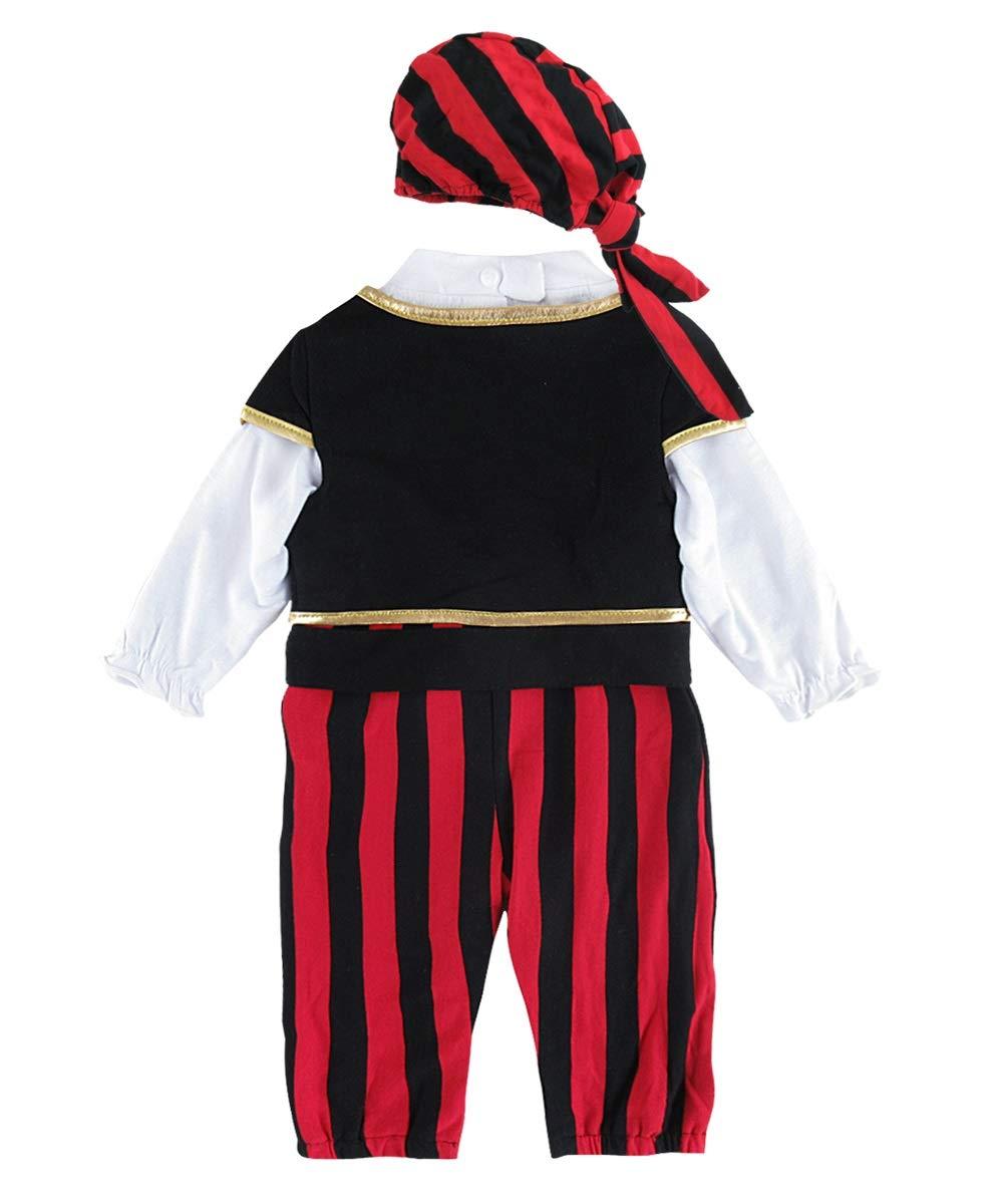 Mombebe D/éguisement B/éb/é Gar/çons Pirate Costume Barboteuse avec Chapeau