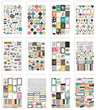 Unbekannt Simple Stories Carpe Diem Good Vibes Mini Aufkleber, Papier, mehrfarbig, 17,1x 10,2x 0,4cm